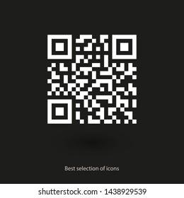 Vector QR code icon . Vector web design