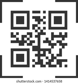 Vector QR code sample for smartphone scanning isolated on white background. Eps 10