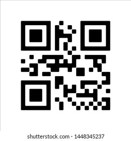 Vector QR code sample for smartphone scanning isolated on white background.