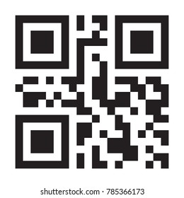 Vector QR code sample to smartphone scanning for money payment, online shopping, money transfer cashless technology concept isolated on white background.