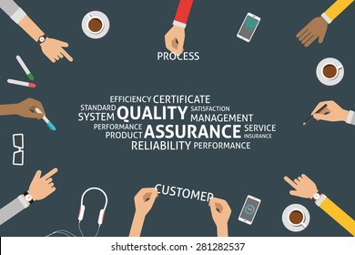 vector quality assurance concept,template