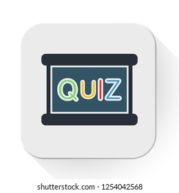 vector quiz board icon. Flat illustration of questionnaire. exam concept isolated on white background. quiz sign symbol - survey icon