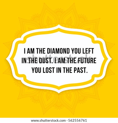 Vector Quote Diamond You Left Dust Stock Vector Royalty Free
