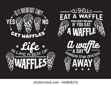 Vector quote typographical background  with illustration of bubble Hong Kong waffles. Hand sketched food. Template for business card, poster, banner, print for t-shirt