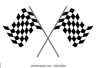 Vector race flags