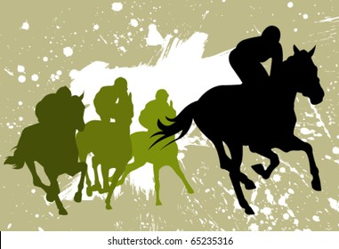 vector races silhouettes