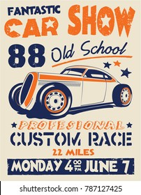 vector racing custom cars print