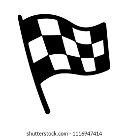 vector racing flag illustration, start finish winner - auto car competition