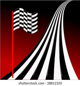 Vector Racing Flag And Track