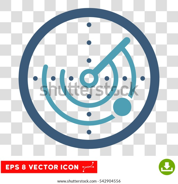 Vector Radar EPS vector pictogram. Illustration style is flat iconic bicolor cyan and blue symbol on a transparent background.