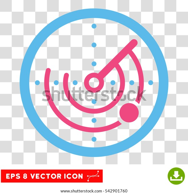Vector Radar EPS vector pictograph. Illustration style is flat iconic bicolor pink and blue symbol on a transparent background.