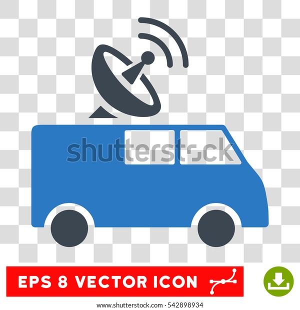 Vector Radio Control Car EPS vector icon. Illustration style is flat iconic bicolor smooth blue symbol on a transparent background.