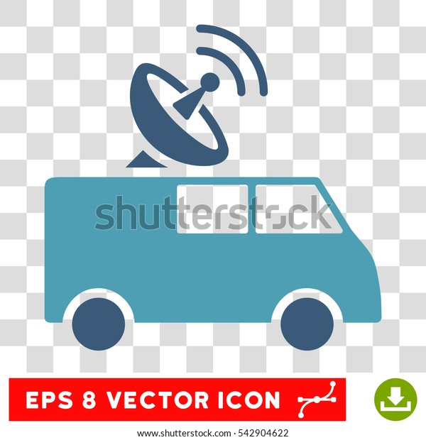 Vector Radio Control Car EPS vector icon. Illustration style is flat iconic bicolor cyan and blue symbol on a transparent background.