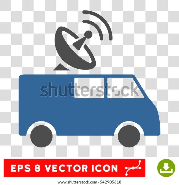 Vector Radio Control Car EPS vector pictograph. Illustration style is flat iconic bicolor cobalt and gray symbol on a transparent background.