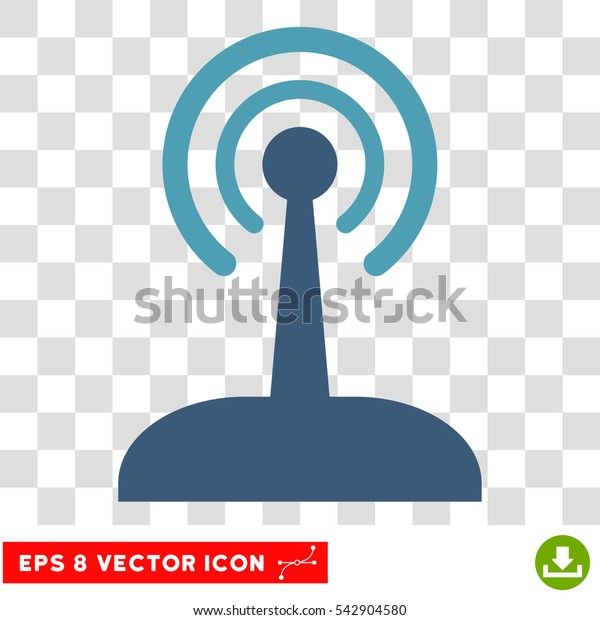 Vector Radio Control Joystick EPS vector icon. Illustration style is flat iconic bicolor cyan and blue symbol on a transparent background.