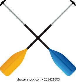 Vector rafting paddle