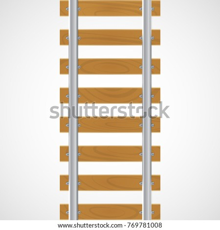 vector rails on wooden stock vector royalty free 769781008