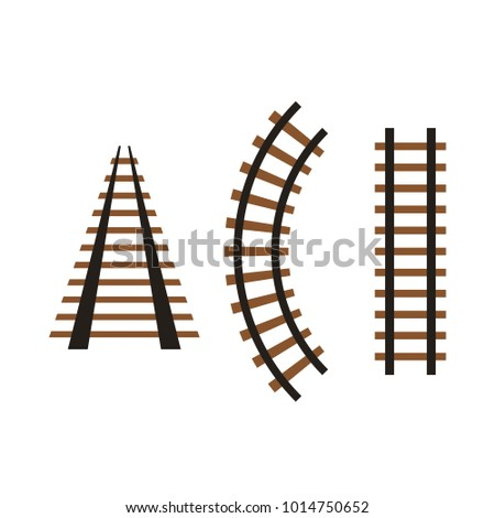 vector rails set stock vector royalty free 1014750652 shutterstock