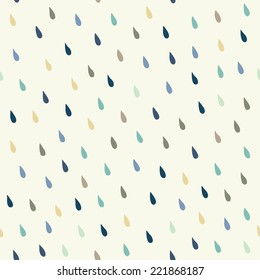 Vector rain drops background