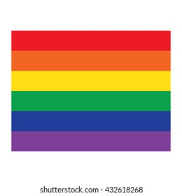 Vector Rainbow flag icon, gay pride, lgbt community sign isolated on white background.