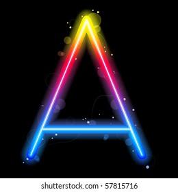 Vector - Rainbow Lights Letters A.