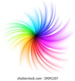 Vector Rainbow Swirl