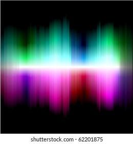 Vector rainbow wallpaper. No mesh. No transparency.