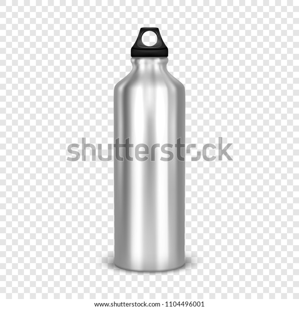 Vector Realistic 3d Empty Glossy Metal Stock Vector (Royalty