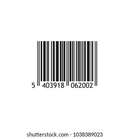 Vector realistic barcode isolated on white background