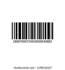 Vector realistic barcode isolated on white background.