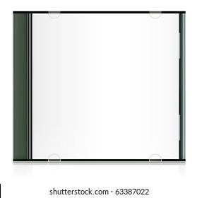 Vector realistic blank cd box
