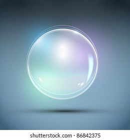 Vector Realistic Bubble. Abstract Background