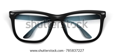 15979895c1abe Vector Realistic Eyeglasses Spectacles Mockup Elegant Stock Vector ...