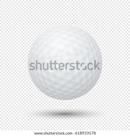 fcfa99b4 Vector realistic flying golf ball closeup isolated on transparent  background. Design template in EPS10.