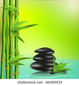 Vector realistic illustration of Spa stones