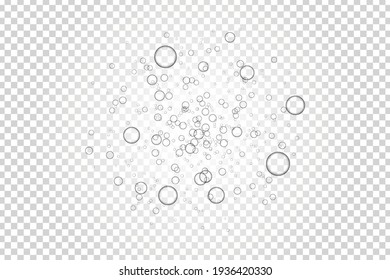 Vector realistic isolated bubbles for template and layout covering on the transparent background.