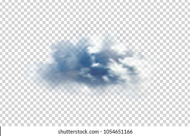 Vector realistic isolated cloud for decoration and covering on the transparent background.