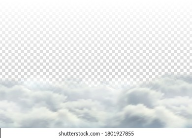 Vector realistic isolated cloud sky for template decoration and covering on the transparent background. Concept of storm.