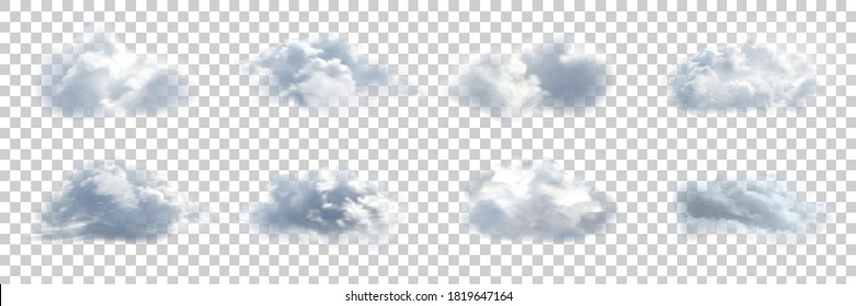 Vector realistic isolated cloud for template decoration and covering on the transparent background. Concept of storm.