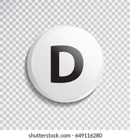Vector realistic isolated dealer button for poker game on the transparent background. Concept of gambling and casino.