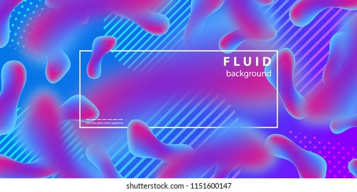 Vector realistic isolated liquid and lava lamp shapes design background for abstract decoration and covering.