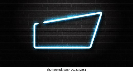 Vector realistic isolated neon sign of colorful frame for decoration and covering on the wall background.
