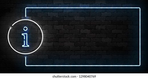 Vector realistic isolated neon sign of Info frame logo for template decoration and covering on the wall background.
