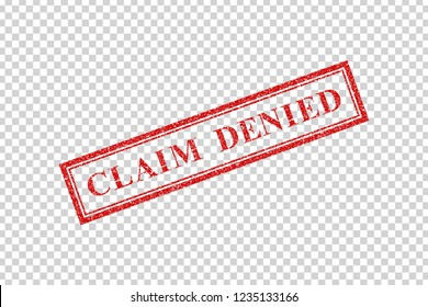 Vector realistic isolated rubber stamp of Claim Denied logo for decoration and covering on the transparent background.