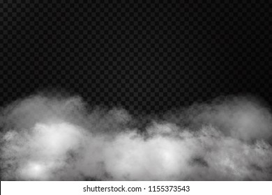 Vector realistic isolated smoke effect for decoration and covering on the transparent background.