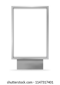 Vector realistic outdoor blank citylight lightbox. Mockup for your print design.