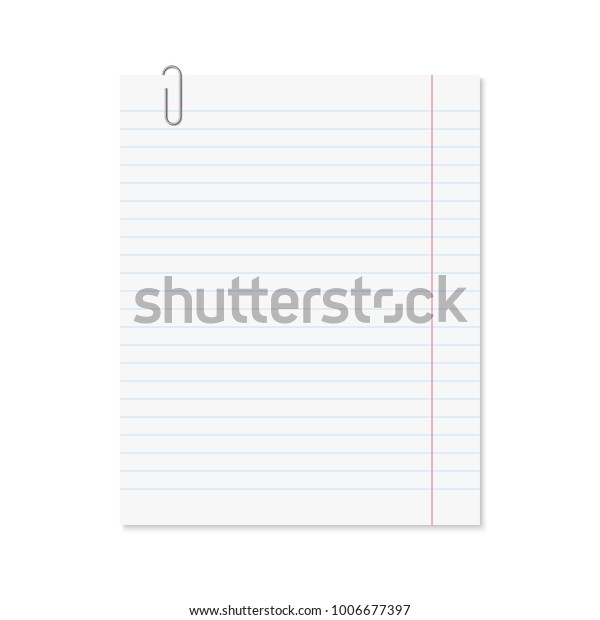 image about Red and Blue Lined Handwriting Paper Printable identified as Vector Sensible Paper Sheet Blue Covered Inventory Vector