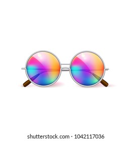 8c8f0a259b1 Vector Realistic Eyeglasses Heart Square Shape Stock Vector (Royalty ...
