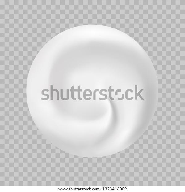 Vector Realistic Round Swirl Background Yogurt Stock Vector