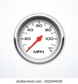 Vector realistic speedometer isolated